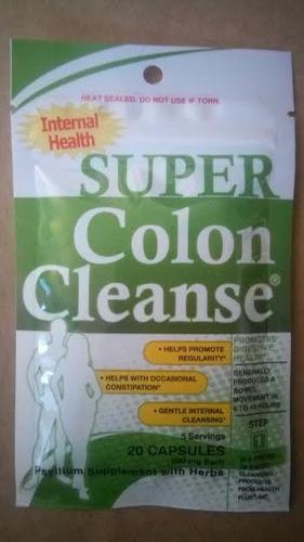 limpieza colon natural probiotic psyllium de usa 20 tabs