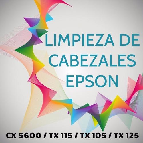 limpieza de cabezal epson serie cx5600, tx115, tx105, tx125