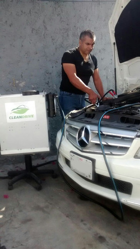 limpieza de convertidor catalítico, taller mecanico