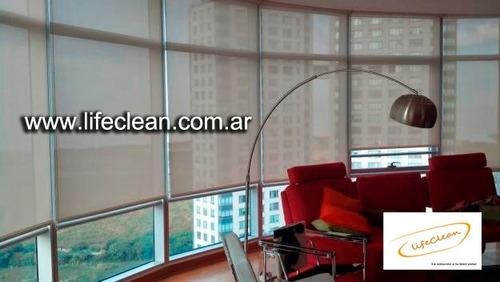 limpieza de cortinas roller sunscreen/blackout