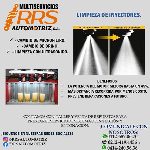 limpieza de inyectores, cuerpo de aceleración y entonación