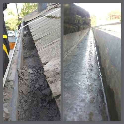 limpieza de techos y canaletas de aguas lluvia, antipalomas.