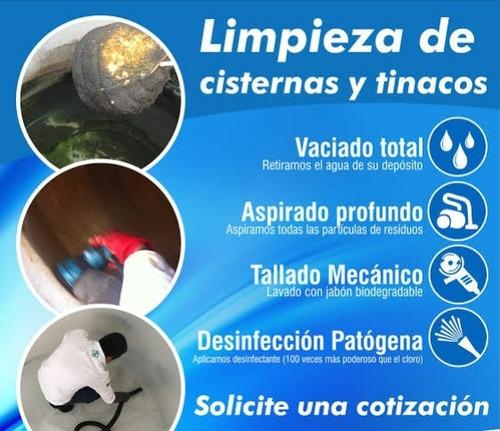 limpieza de tinacos y cisternas