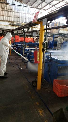 limpieza, desinfección,  sanitización y  nebulización