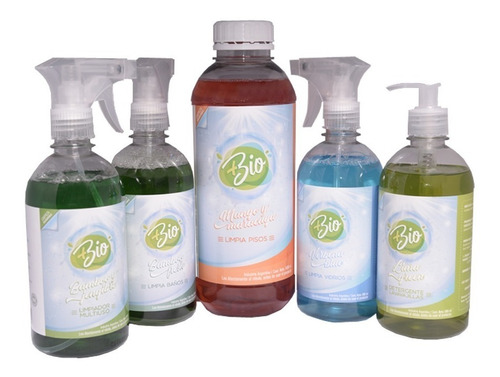 limpieza ecológica sustentable - kit 5 productos biodegrable