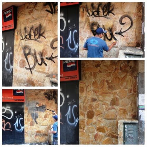 limpieza hidrojet  remoción de grafitis  sellado