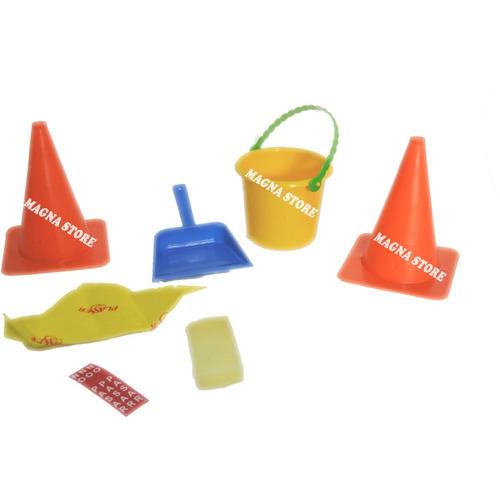 limpieza infantil carrito escoba balde secador new plast