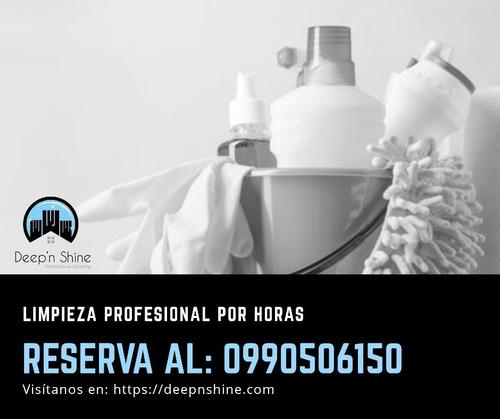 limpieza profesional y servicio doméstico por horas