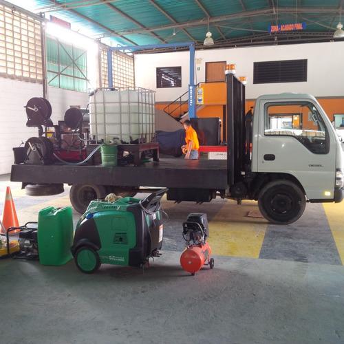 limpieza tanque de agua  - hidrojet 4000psi fria/caliente