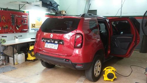 limpieza tapizados auto inundados fieltro mojado ozono