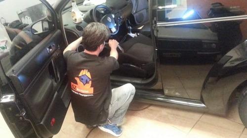 limpieza tapizados auto inundados mojado auto chico fieltro