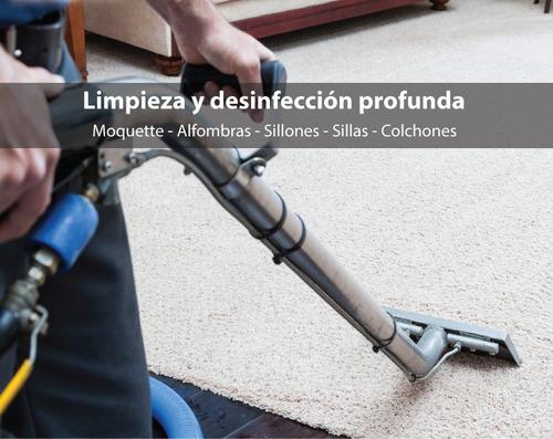 limpieza y desinfección de moquette, alfombras y sillones