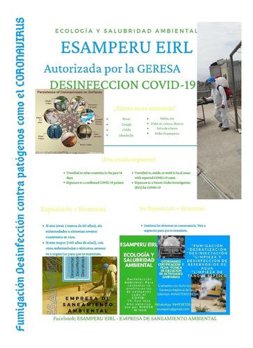 limpieza y desinfección de reservorios de agua para consumo