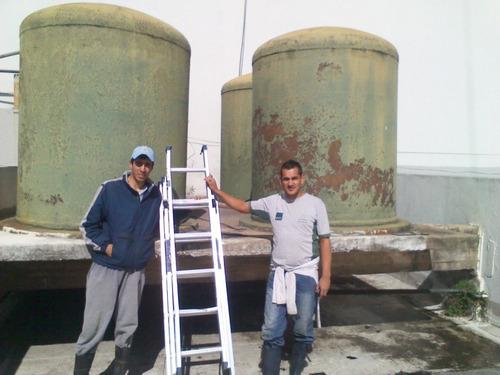limpieza y desinfección de tanques , desagote de sótanos