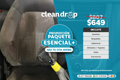 limpieza y desinfección de vestiduras de auto