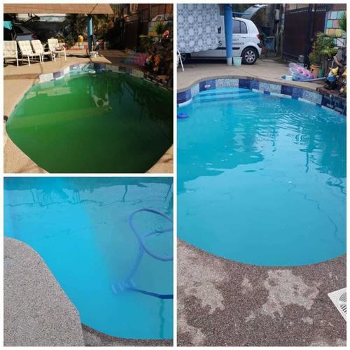 limpieza y mantención de piscinas, recuperación de agua