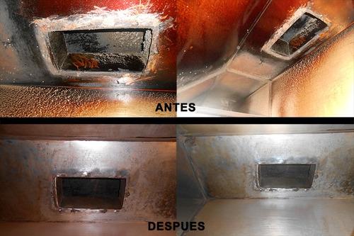 limpieza y mantenimiento: campanas, conductos y extractores