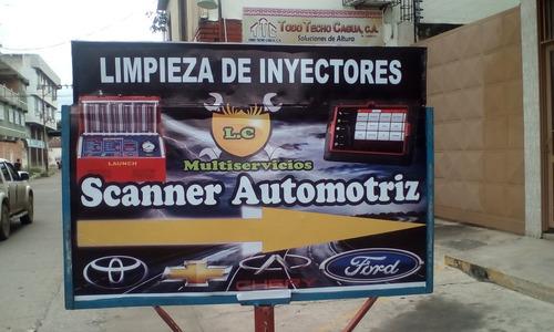 limpieza y mantenimientos de inyectores (scanner automotriz)