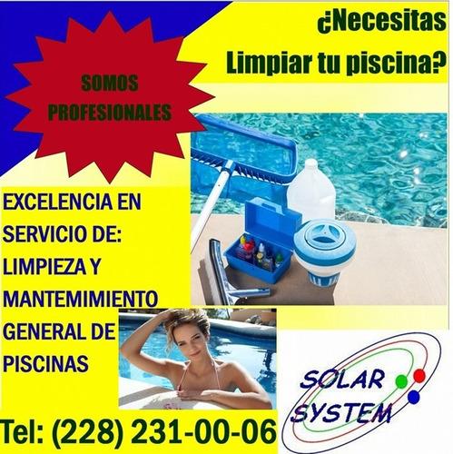 limpieza y mtto. profesional de piscinas, albercas, spa