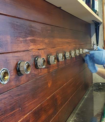 limpieza y sanitización de canillas cerveza artesanal