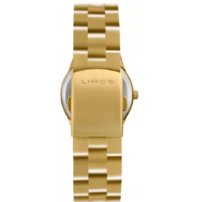 a934175060f Relógio Lince Feminino Dourado Fundo Azul Lrg4301l A2kx - R  109