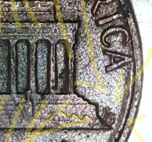 linco cents,de cinc y cobre... sin letra de acuñación , co