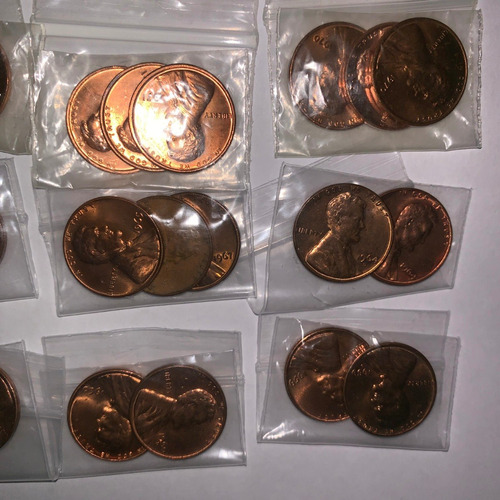 Lincoln Cent Penny 1959 Al 1975 Brillo Original Mint P,d,s