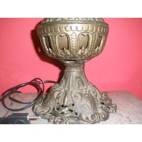 Linda Base Para Abajour -em Bronze - Antigo