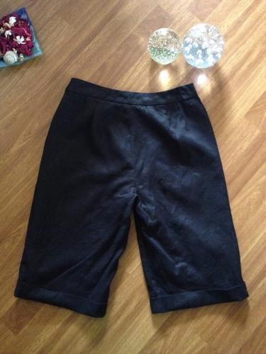 linda bermudas de lino negro marca ralph lauren talla 38/40