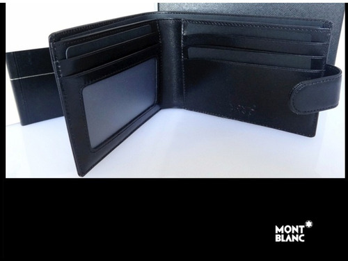 linda billetera montblanc  masterpiece wallet 4cc leather
