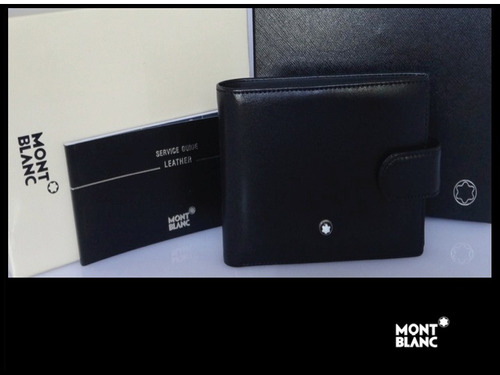 linda billetera montblanc  masterpiece wallet 4cc leather