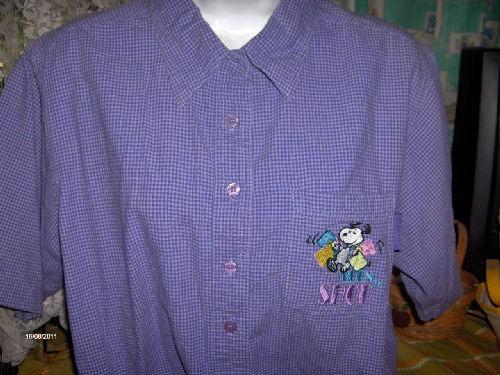 linda blusa de snoopy peanuts talla 14-16 w   djgsv