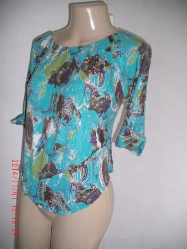 linda blusa estampada-     tam: m