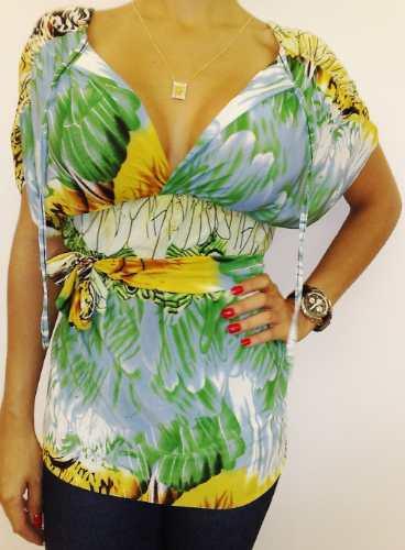 linda blusa estampada - também saia vestido renda top sapato