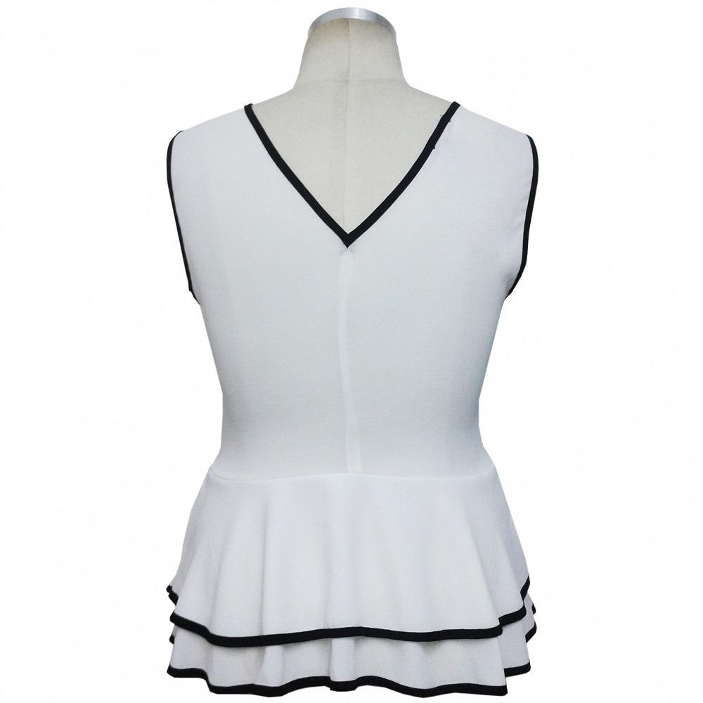 f5c924838e linda blusa feminina plus size estilo peplum preta ou branca. Carregando  zoom.