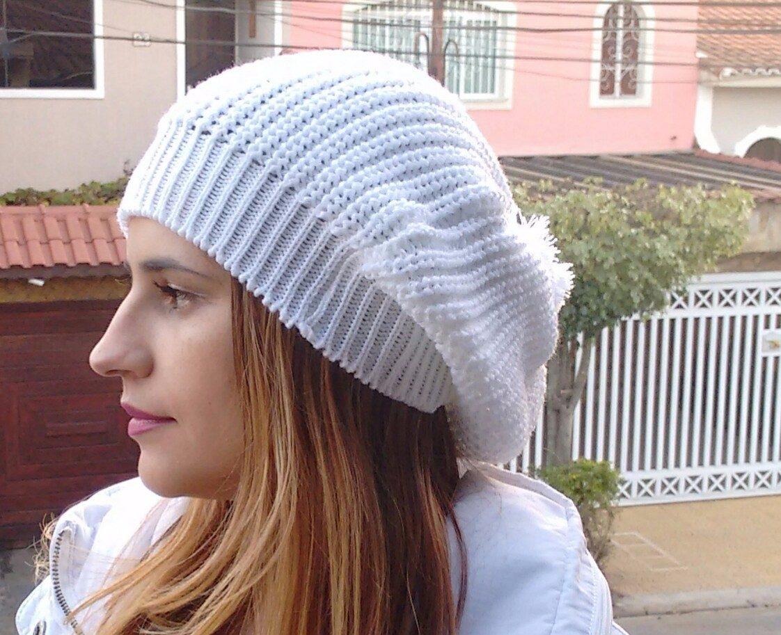 linda boina trança gorro beanie touca feminina várias cores. Carregando  zoom. b67d5158946
