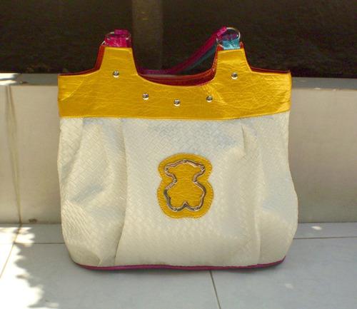 linda bolsa casual! lindo bolso con osito!