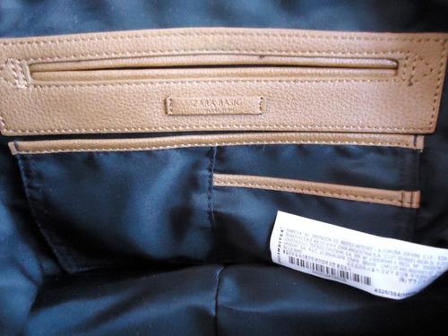 linda bolsa de mão zara basic marrom lindíssima ! !