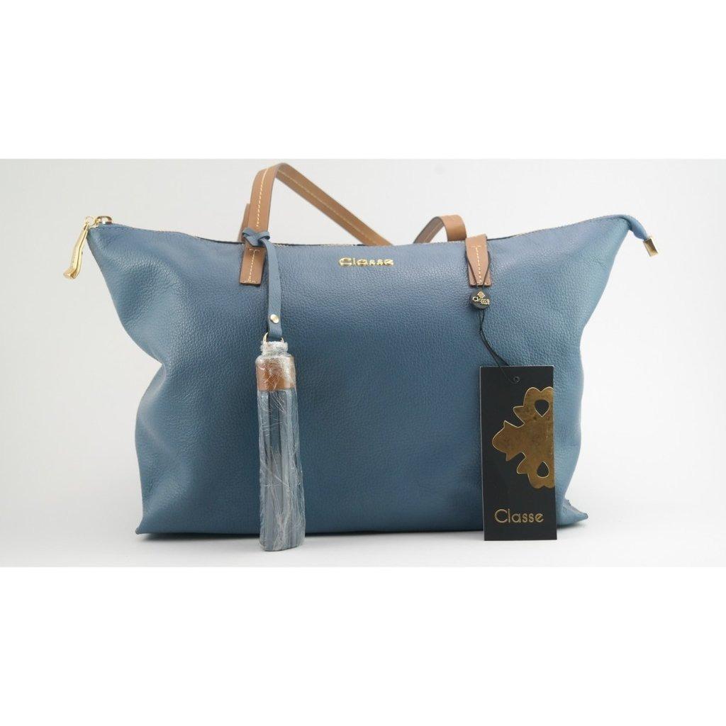 1b480008a Linda Bolsa Em Couro Legitimo - Azul - Classe Couro - R$ 386,90 em ...