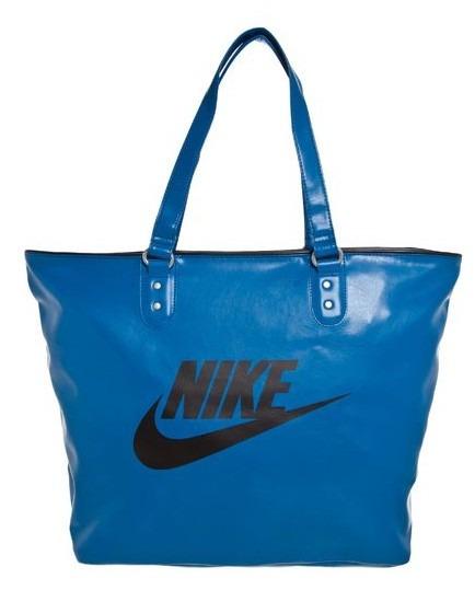 Linda Bolsa Nike Heritage Azul Couro Sintético Pronta Entreg - R ... 4897e1a135034