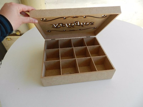 linda caixa mdf c fecho p organizar relógios