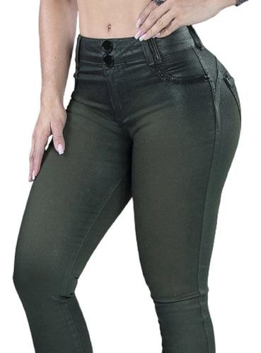 linda calça verde militar cós resinado pit bull