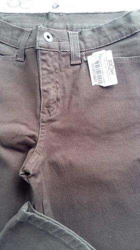 linda calça zoomp marrom c/ elastano,feminina, muito barato!