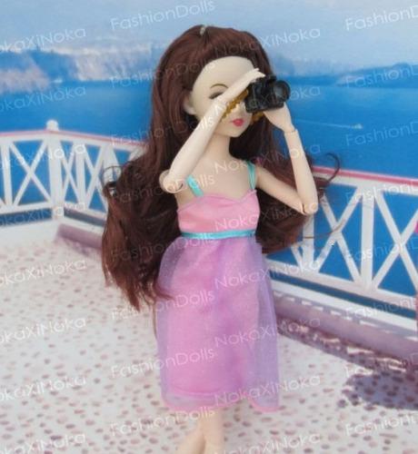 linda camera fotografica para boneca barbie * monster high