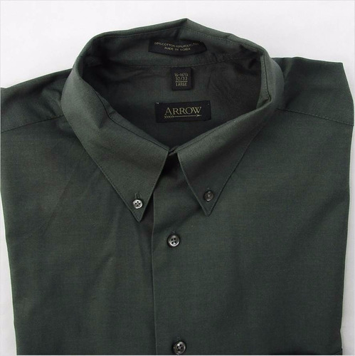 linda camisa verde para caballero arrow t 16-16 1/2 32/33