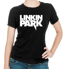 Linda Dama Park Metal Nu Linkin Banda Camiseta Negra PikXuOZ