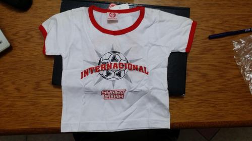 linda camiseta manga curta bebê inter - tamanho m !!!