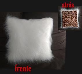 67c94c500f483d Linda Capa Para Almofada Peluda Branca E Onça Print- Moda