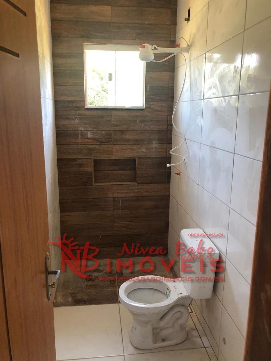 linda casa 3 quartos em unamar, cabo frio - vcac 222 - 33670472