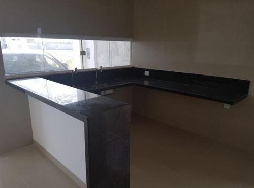 linda casa 3/4 c/suíte - 300m² - projetados - porcelanato